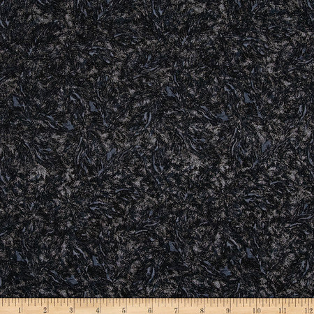 Sparkle Black Shimmer Silver Metallic by Riley Blake Designs - Semisolid - Quilting Cotton Fabric