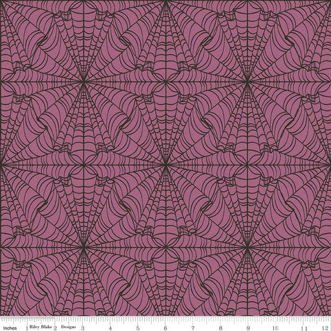 Lost and Found Halloween Web Purple by Riley Blake Designs - Spider Webs - Quilting Cotton Fabric