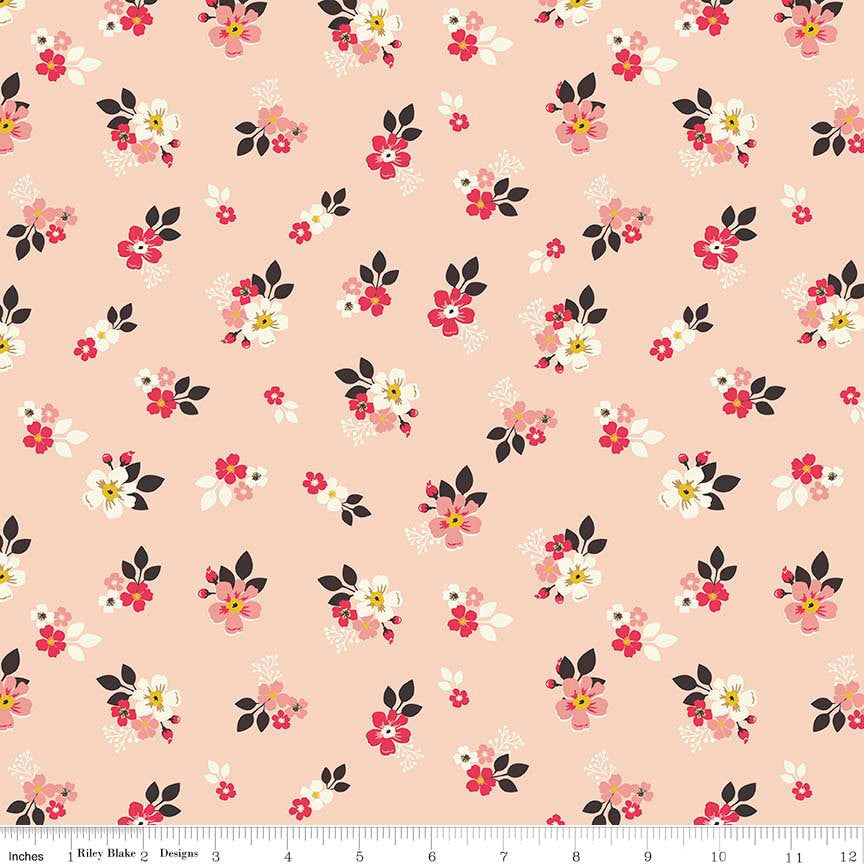"Vintage Daydream Floral Pink by Riley Blake Designs - Flowers - Quilting Cotton Fabric - 20"" end of bolt"
