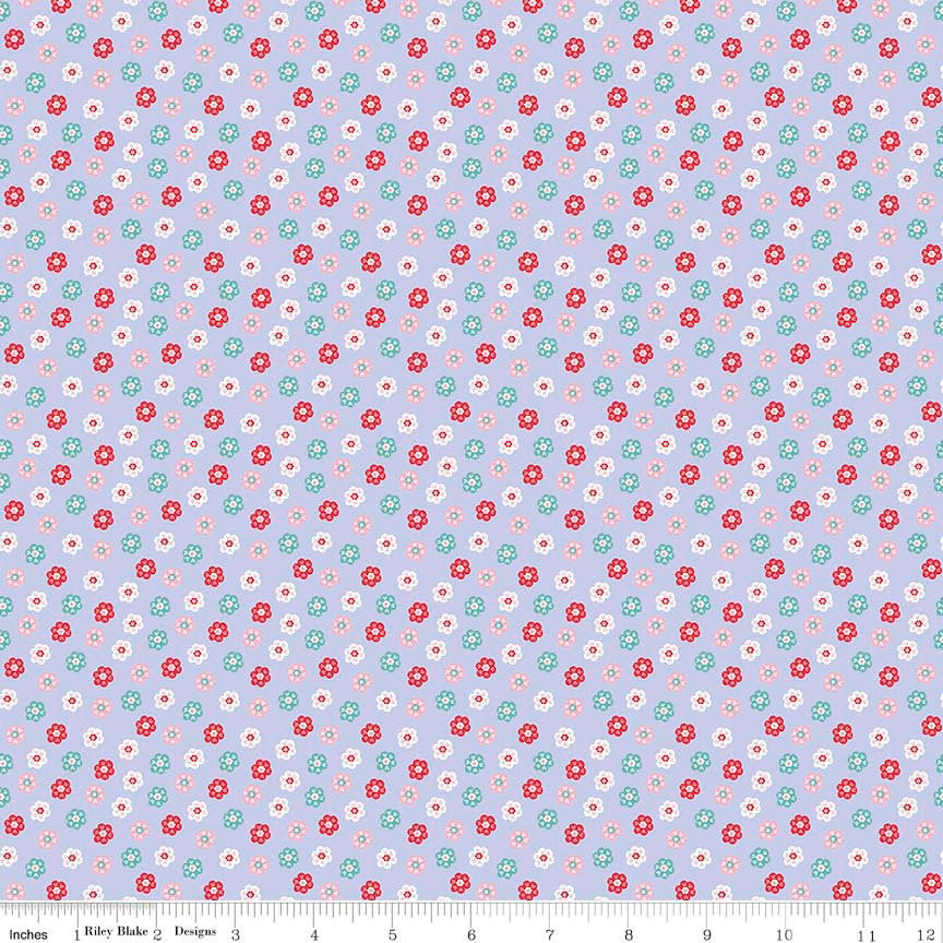Princess Dreams Floral Purple by Riley Blake Designs - Flowers - Quilting Cotton Fabric