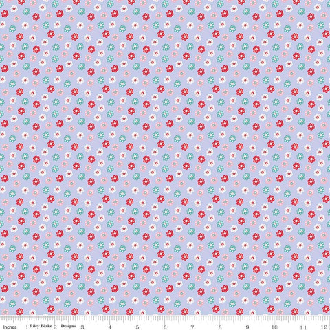 SALE Princess Dreams Floral Purple by Riley Blake Designs - Flowers - Quilting Cotton Fabric - choose your cut