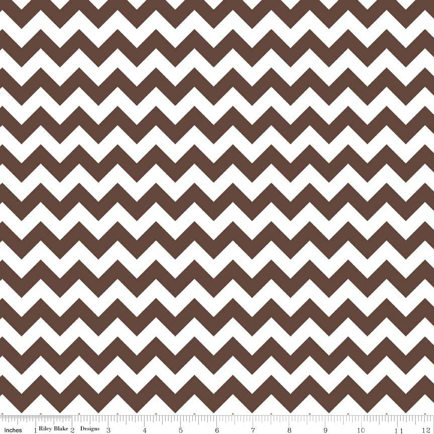 SALE Brown and White Chevron Small by Riley Blake Designs - Quilting Cotton Fabric - choose your cut