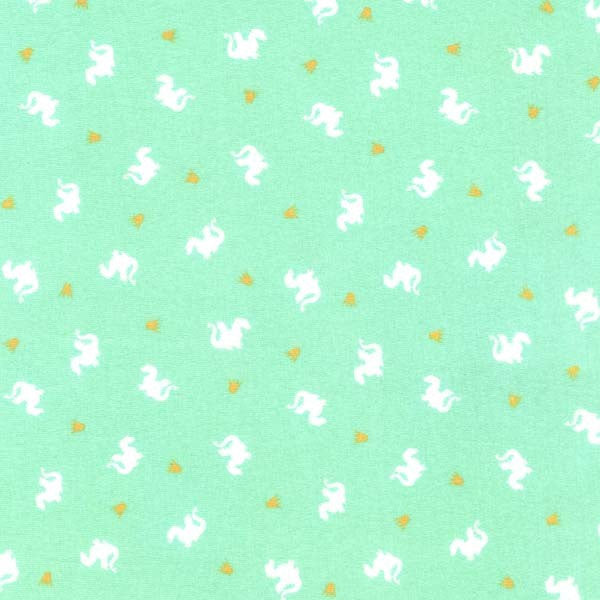 Magic Baby Dragons Turquoise by Sarah Jane Michael Miller - Jersey KNIT cotton lycra spandex stretch fabric