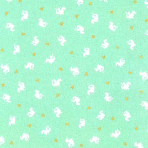 SALE Magic Baby Dragons Turquoise by Sarah Jane Michael Miller - Jersey KNIT cotton lycra spandex stretch fabric