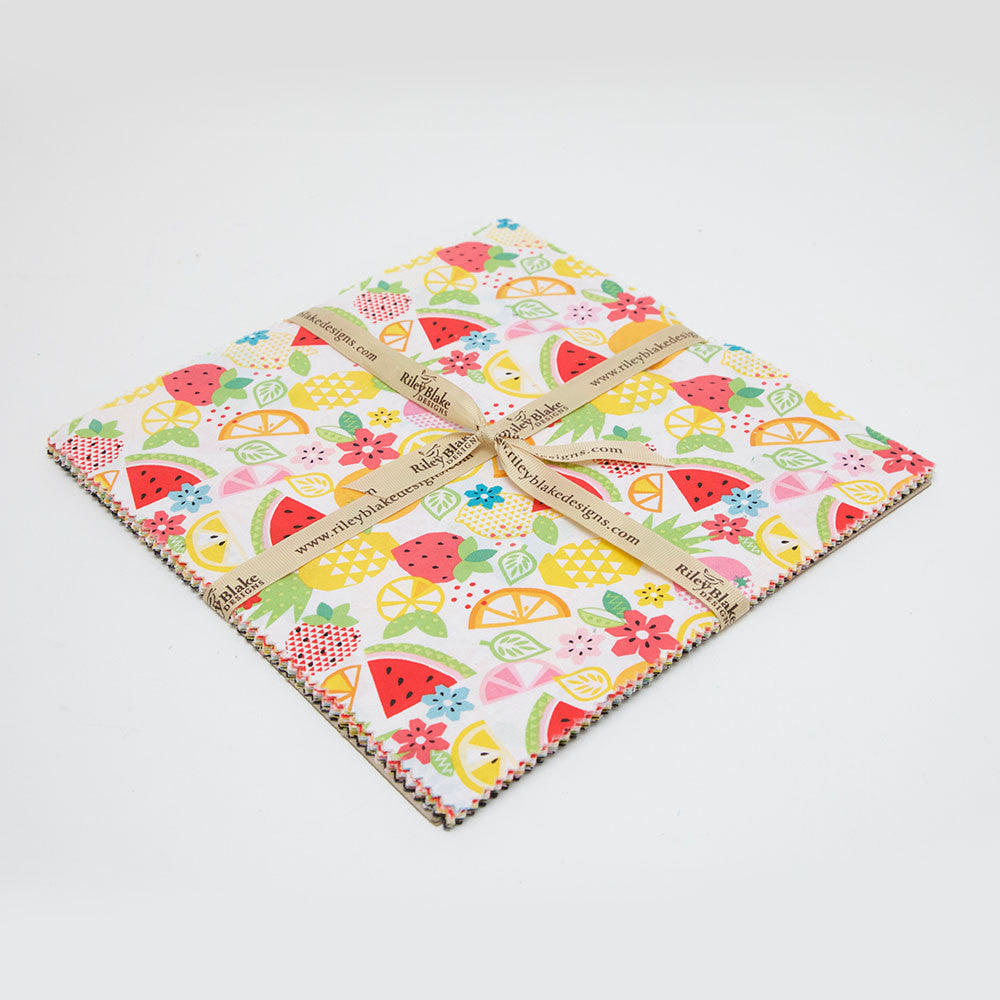 "Fresh Market Layer Cake 10"" Stacker Bundle by Riley Blake Designs - 42 piece Precut - Fruit Pineapple - Quilting Cotton Fabric"