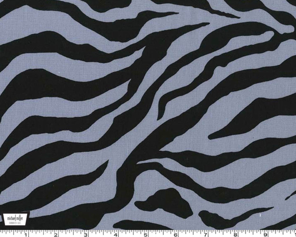 SALE Show Your Skin Zebra Stripe Gray by Michael Miller - Animal Print - Quilting Cotton Fabric - choose your cut