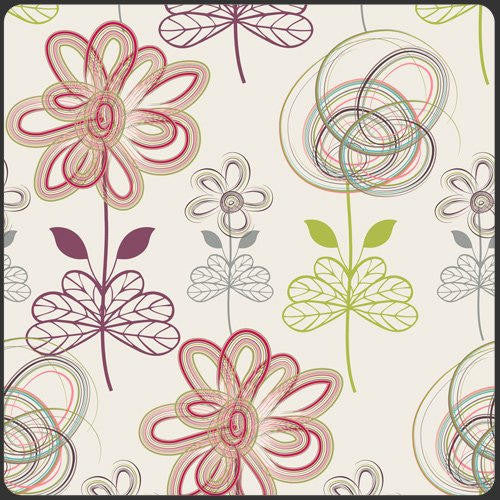 CLEARANCE Modernology Drawn Art Vanilla - Art Gallery - Floral Flowers Cream - Quilting Cotton Fabric - by the yard