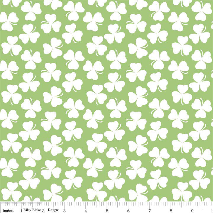 Clover Shamrock - Riley Blake Designs - Saint Patrick's Day Green Irish Holiday - Quilting Cotton Fabric - choose your cut