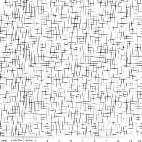 Black on White Hashtag Large Reversed - Riley Blake Designs - Black and White - Quilting Cotton Fabric
