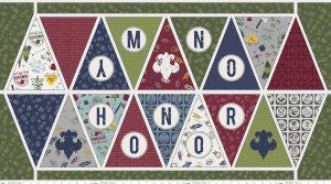 SALE Modern Scouting Panel Banner On My Honor - Riley Blake Designs - Boy Scouts Eagle - Quilting Cotton Fabric