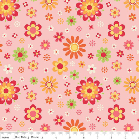 Just Dreamy 2 Floral Pink by Riley Blake Designs - Flowers - Jersey KNIT cotton lycra spandex stretch fabric