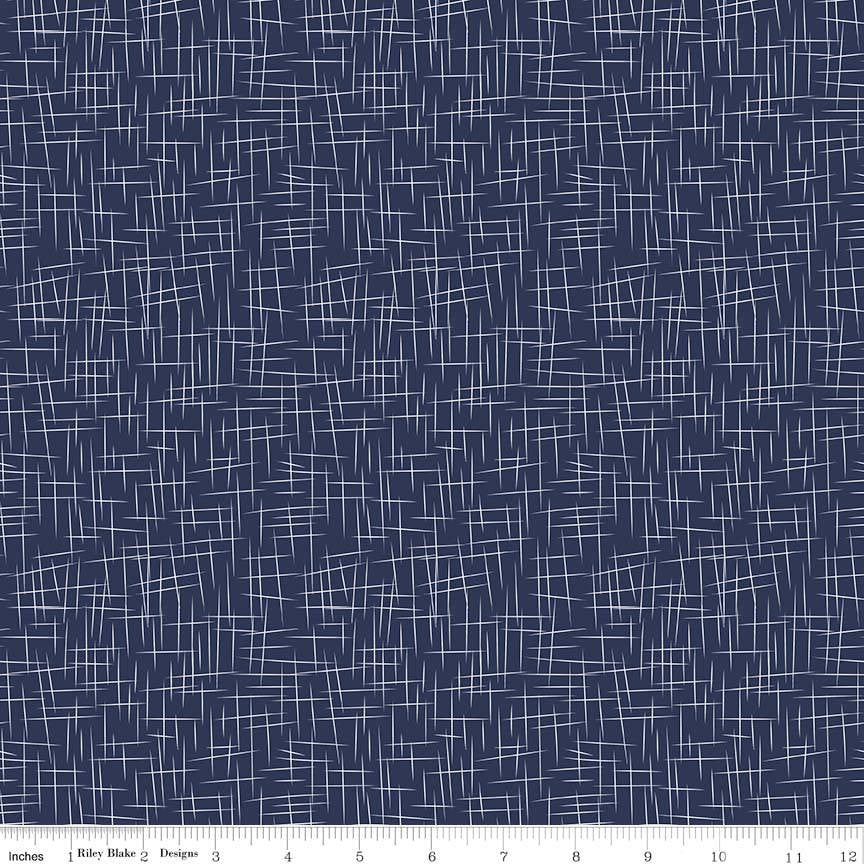 SALE Hashtag Large White on Navy - Riley Blake Designs - Blue - Quilting Cotton Fabric - choose your cut