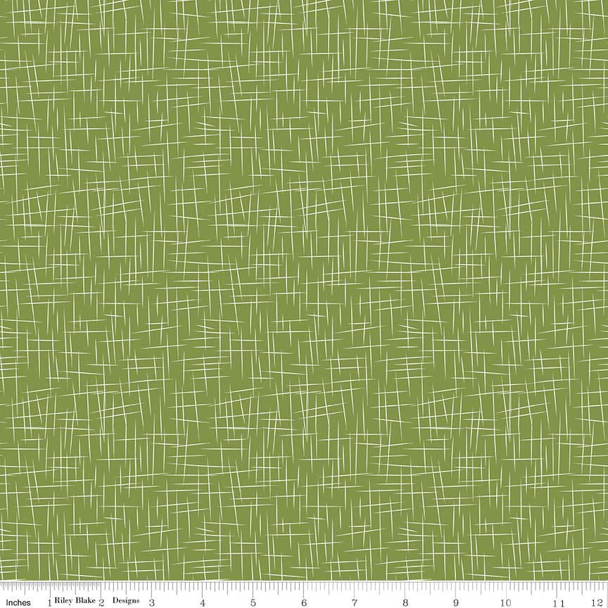 SALE Hashtag Large White on Treetop - Riley Blake Designs - Green - Quilting Cotton Fabric - choose your cut