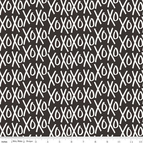 SALE Yes Please XOs Black - Riley Blake Designs - Cream XOXO Hugs and Kisses - Quilting Cotton Fabric