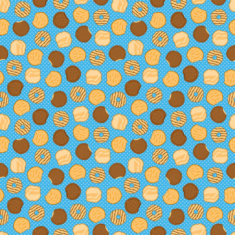 SALE Girl Scouts Cookies Blue - Riley Blake Designs - Food Trefoil Samoas Thin Mints - Quilting Cotton Fabric - choose your cut