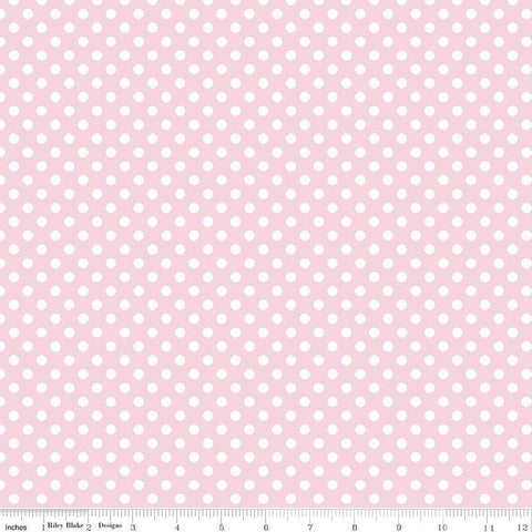 Baby Pink Small White Dots by Riley Blake Designs - polka dots - Quilting Cotton Fabric