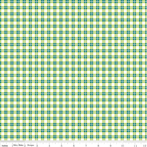 SALE Harmony Farm Plaid Green - Riley Blake Designs - Checkers - Quilting Cotton Fabric - choose your cut