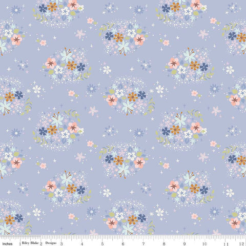 SALE Neverland Star Flower Periwinkle - Riley Blake Designs - Purple Floral - Quilting Cotton Fabric - choose your cut
