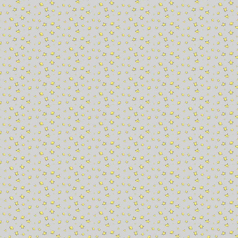 The Little Prince Stars Gray - Riley Blake Designs - Grey - Quilting Cotton Fabric