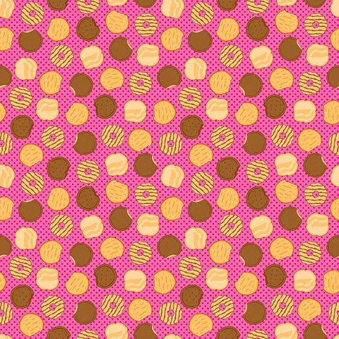 SALE Girl Scouts Cookies Pink - Riley Blake Designs - Food Trefoil Samoas Thin Mints - Quilting Cotton Fabric - choose your cut