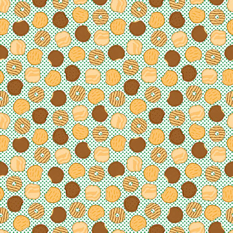 SALE Girl Scouts Cookies Green - Riley Blake Designs - Food Trefoil Samoas Thin Mints - Quilting Cotton Fabric - choose your cut