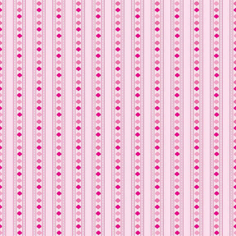 SALE Girl Scouts Stripe Pink - Riley Blake Designs - Trefoil Tone on Tone - Quilting Cotton Fabric