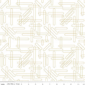 Shine Bright Smarter Than You Think White Gold SPARKLE - Riley Blake Designs - Metallic - Quilting Cotton Fabric - choose your cut