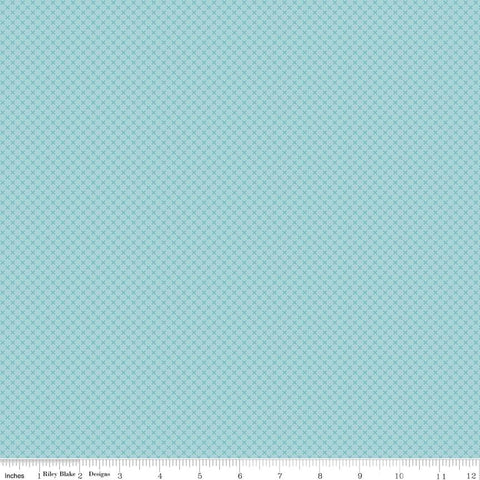 SALE Aqua Kisses Tone on Tone by Riley Blake Designs - Blue Basic Coordinate - Quilting Cotton Fabric