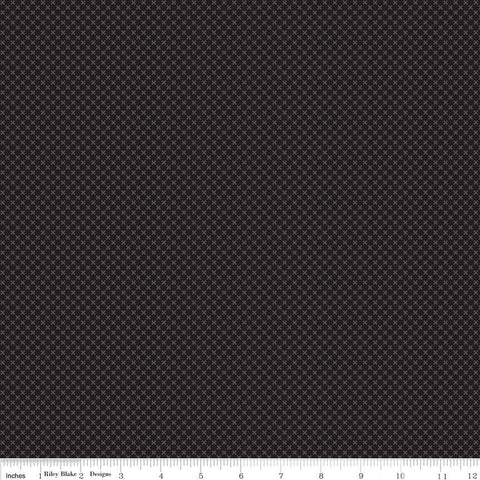 SALE Black Kisses Tone on Tone by Riley Blake Designs - Basic Coordinate - Quilting Cotton Fabric - choose your cut