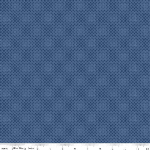 SALE Denim Blue Kisses Tone on Tone by Riley Blake Designs - Basic Coordinate - Quilting Cotton Fabric