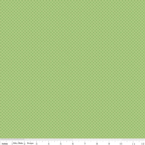 SALE Green Kisses Tone on Tone by Riley Blake Designs - Basic Coordinate - Quilting Cotton Fabric