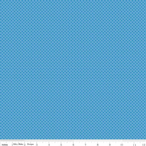 SALE Medium Blue Kisses Tone on Tone by Riley Blake Designs - Basic Coordinate - Quilting Cotton Fabric
