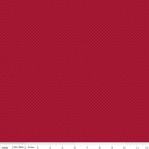 "SALE Redwood Red Kisses Tone on Tone by Riley Blake Designs - Basic Coordinate - Quilting Cotton Fabric - 29"" end of bolt"