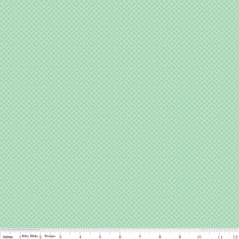 SALE Sweet Mint Green Kisses Tone on Tone by Riley Blake Designs - Basic Coordinate - Quilting Cotton Fabric