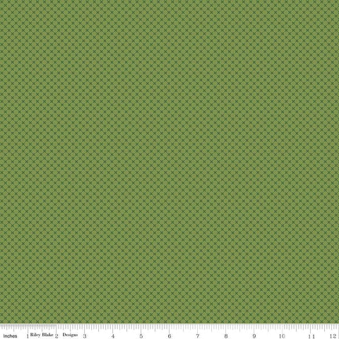 SALE Treetop Green Kisses Tone on Tone by Riley Blake Designs - Basic Coordinate - Quilting Cotton Fabric