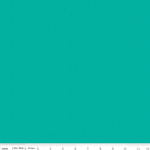 SALE Vivid Teal Kisses Tone on Tone by Riley Blake Designs - Blue Green Basic Coordinate - Quilting Cotton Fabric