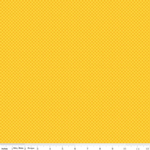 SALE Yellow Kisses Tone on Tone by Riley Blake Designs - Basic Coordinate - Quilting Cotton Fabric