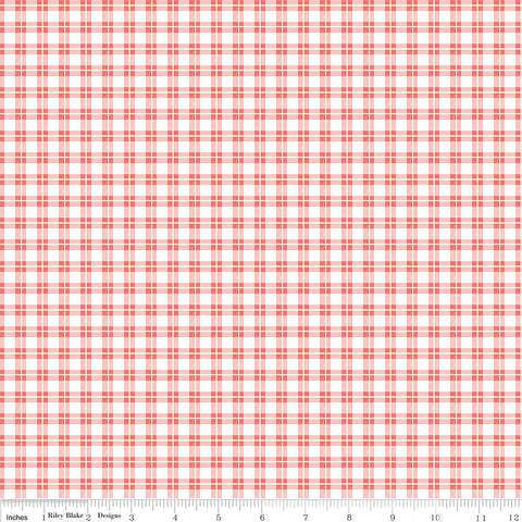 SALE Harmony Farm Plaid Pink - Riley Blake Designs - Checkers - Quilting Cotton Fabric - choose your cut