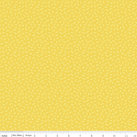 SALE Harmony Farm Hay Yellow - Riley Blake Designs - Sprinkles Dots - Quilting Cotton Fabric - choose your cut