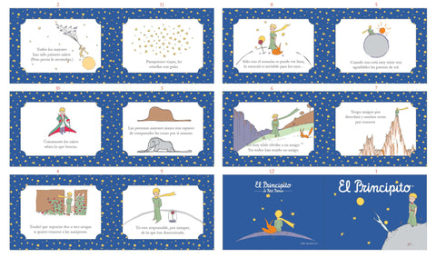 The Little Prince Soft Book Panel in SPANISH - Navy Blue - Riley Blake Designs - Quilting Cotton Fabric