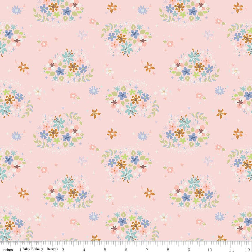 Neverland Star Flower Pink - Riley Blake Designs - Floral - Quilting Cotton Fabric