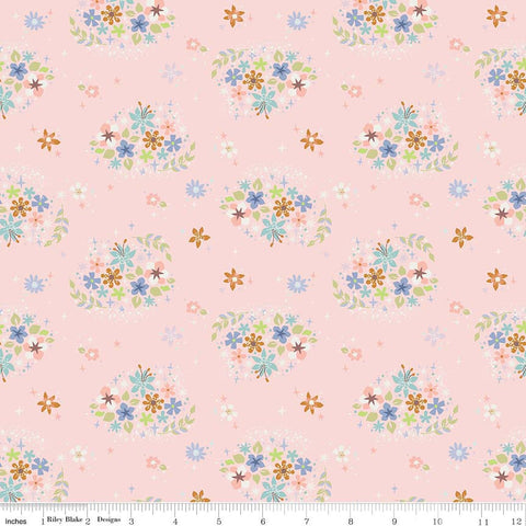 SALE Neverland Star Flower Pink - Riley Blake Designs - Floral - Quilting Cotton Fabric - choose your cut