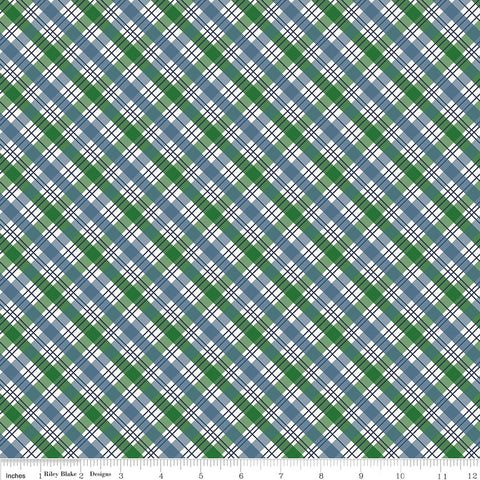 The Great Outdoors Plaid Blue - Riley Blake Designs - Quilting Cotton Fabric - choose your cut