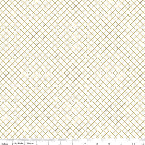 SALE Shine Bright Cross My Heart Gold SPARKLE on White - Riley Blake Designs - Metallic - Quilting Cotton Fabric - choose your cut