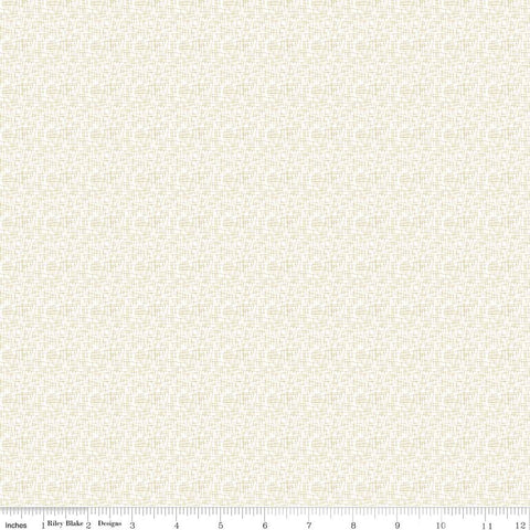 Gold SPARKLE Mini Small Hashtag on White Metallic - Riley Blake Designs - Quilting Cotton Fabric