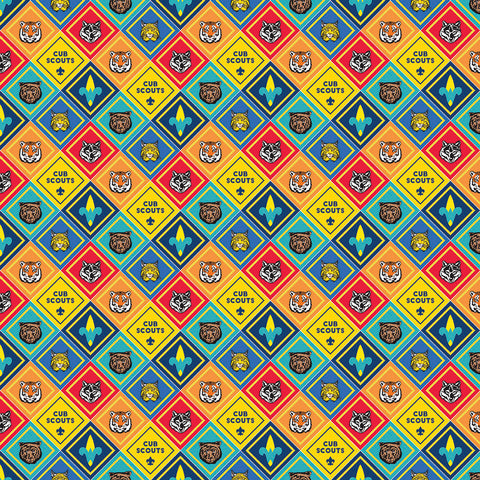 SALE Cub Scouts Badges Multi - Riley Blake Designs - Boy Scouts Patches - Quilting Cotton Fabric