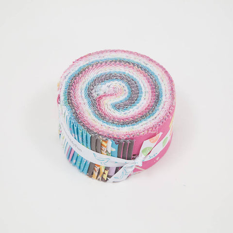 Ballerina Bows 2.5 Inch Rolie Polie Jelly Roll 40 pieces Riley Blake Designs - Precut Pre cut Bundle Dancing - Quilting Cotton Fabric