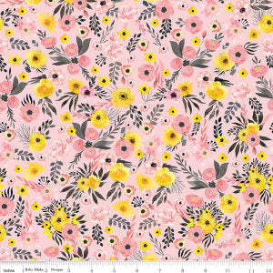 Petal Lane Main Pink - Riley Blake Designs - BoBunny - Flowers Floral - Quilting Cotton Fabric - choose your cut