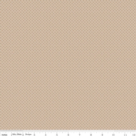 SALE Beach Kisses Tone on Tone by Riley Blake Designs - Tan Light Brown Basic Coordinate - Quilting Cotton Fabric