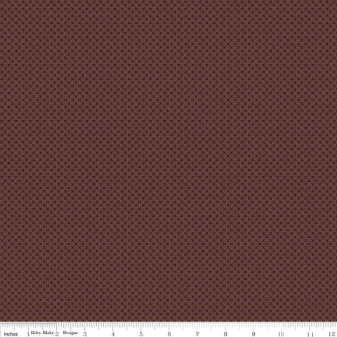 "SALE Brown Kisses Tone on Tone by Riley Blake Designs - Basic Coordinate - Quilting Cotton Fabric - 1 yard 4"" end of bolt piece"